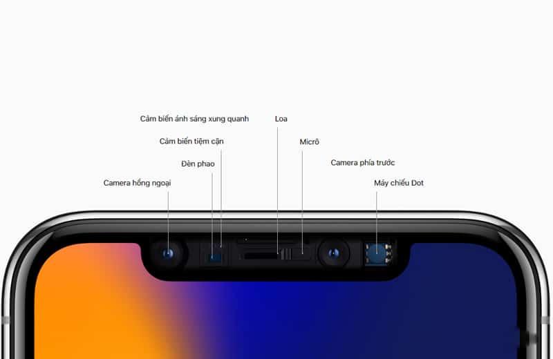iPhone X sở hữu chiếc camera selfies 7 MP phía trước giúp hỗ trợ chụp selfies