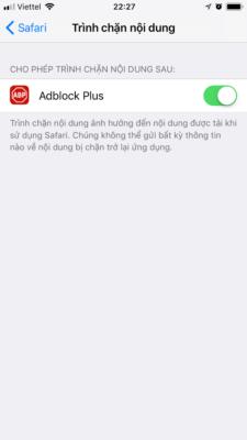 Cho phép ứng dụng được chạy trong Safari