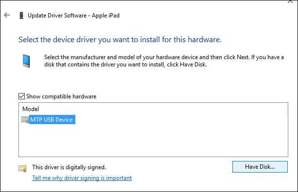 cập nhật driver của apple