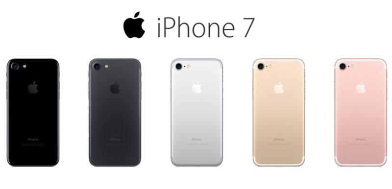 iphone 7 có năm màu