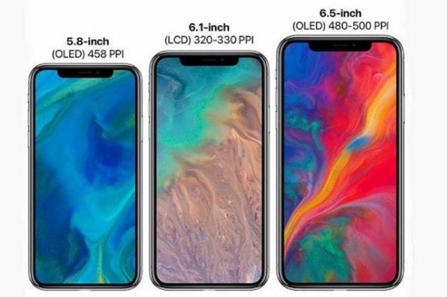 Kích cỡ của 3 chiếc iPhone vừa ra mắt
