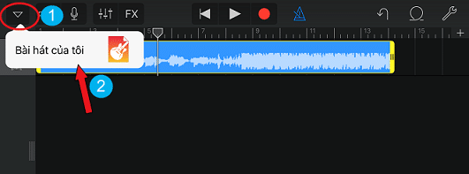 Lưu đoạn nhạc mình đã cắt