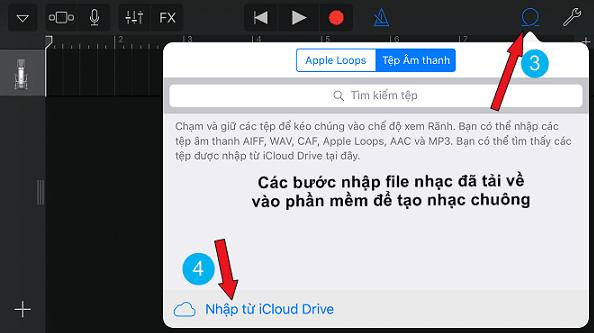 Bước 3 - 4: Nhập file từ iCloud Drive