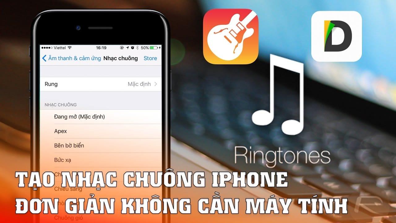 Cách tạo nhạc chuông iphone không cần đến máy tính
