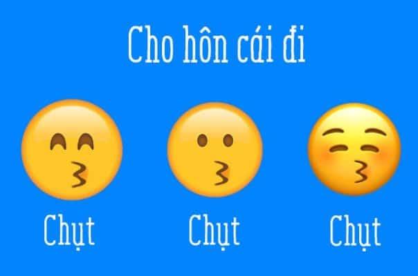 3 emoji này thể hiện nụ hôn