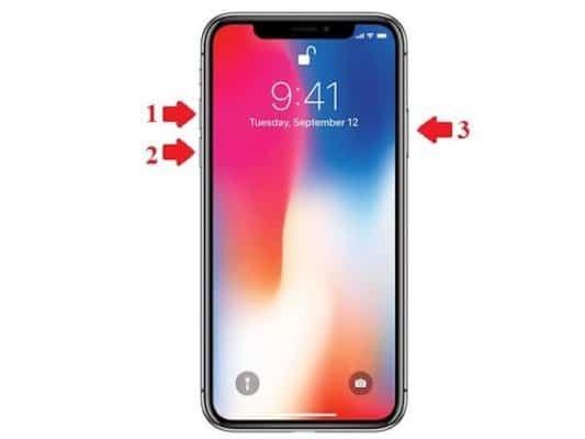 Cách khởi động nóng iPhone XR, XS, XS Max bằng phím vật lý