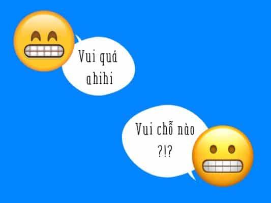 Emoji này đều khoe ra hàm răng trắng đều tăm tắp