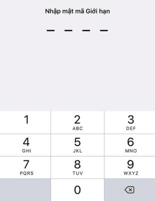 Nhập mật khẩu giới hạn