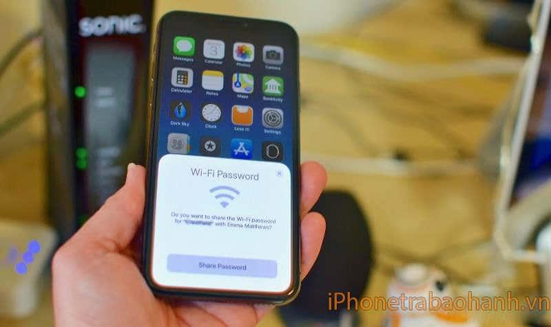 Chia sẻ mật khẩu wifi trên iphone