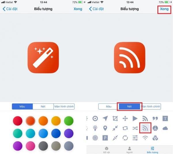 Đổi biểu tượng cho phím tắt WiFi
