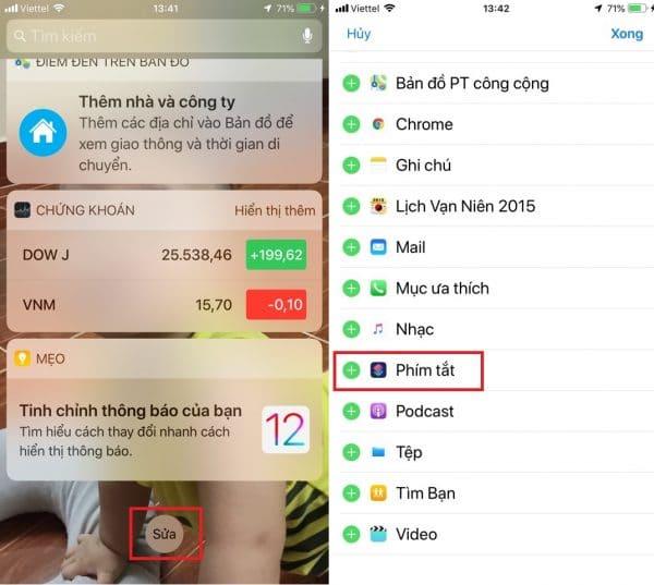 Nhấn chọn vào ứng dụng Siri Shortcuts