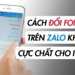 Mẹo thay đổi font tin nhắn Zalo trên iPhone thêm phần độc đáo