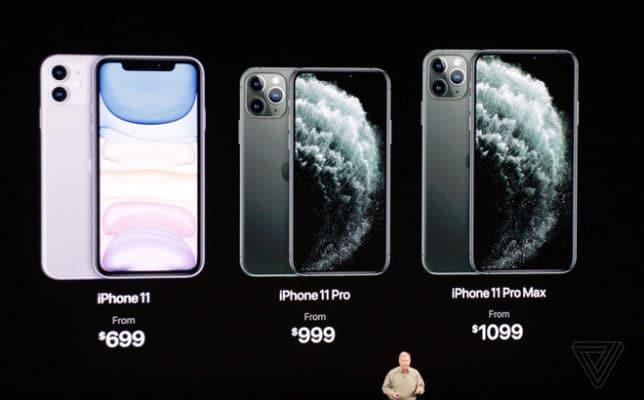 Giá bán iPhone 2019