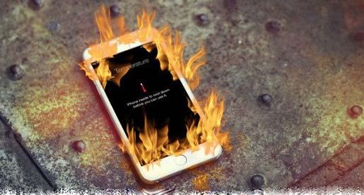 Sử dụng Pin iPhone trong môi trường quá nóng