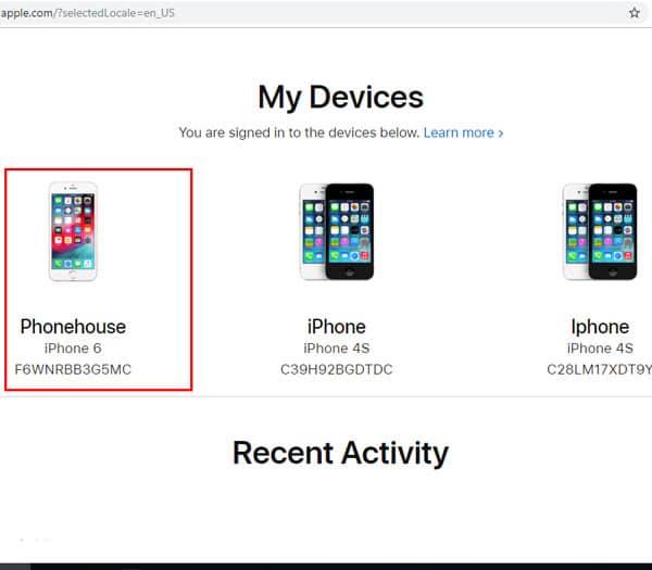 Chọn thiết bị bạn đang muốn kiểm tra