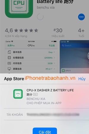 Vào Appstore tìm và tải ứng dụng về máy của bạn