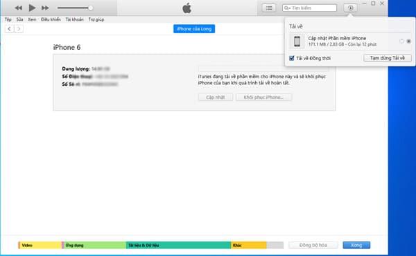 Xem thời gian tải phiên bản IOS
