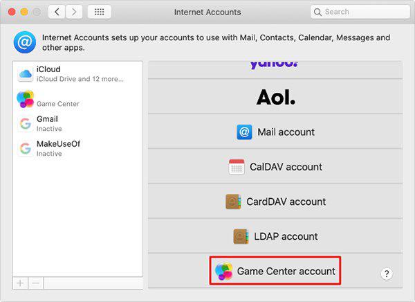 Đăng nhập vào Game Center trên Macbook