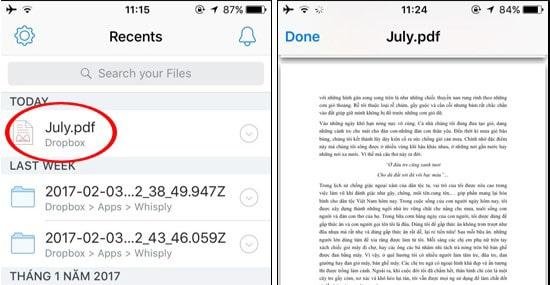 Cách mở file PDF có trong máy iPhone, iPad