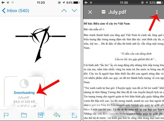 Tải file PDF về từ file đính kèm trong Gmail