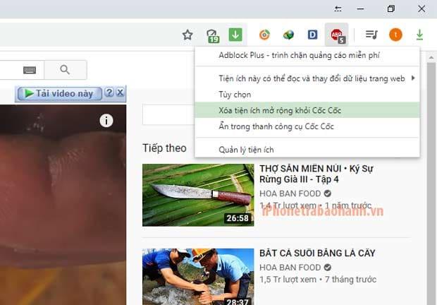 Xóa tiện ích Adblock Plus khỏi trình duyệt Web