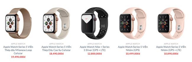 Apple Watch Series 5 tại Shop