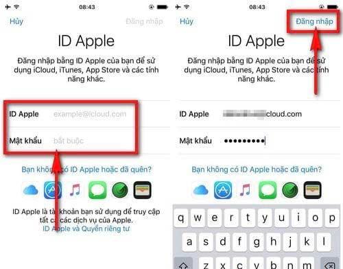 Đăng nhập với ID Apple