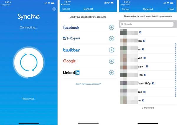 Ứng dụng sẽ tự động tìm các contact cần được update avatar và list ra