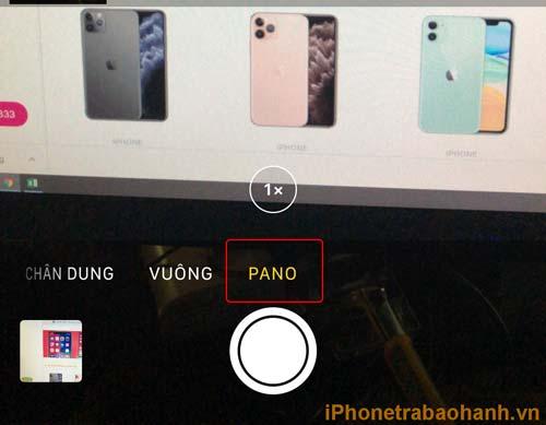Chọn chế độ chụp ảnh PANO