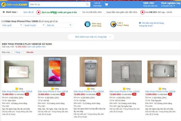 Giá iPhone 8 Plus cũ Điện Máy Xanh