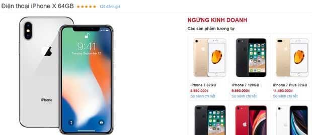 iPhone X 64gb giá bao nhiêu the gioi di dong