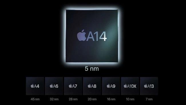 Cấu hình mạnh mẽ với chip Apple A14 Bionic
