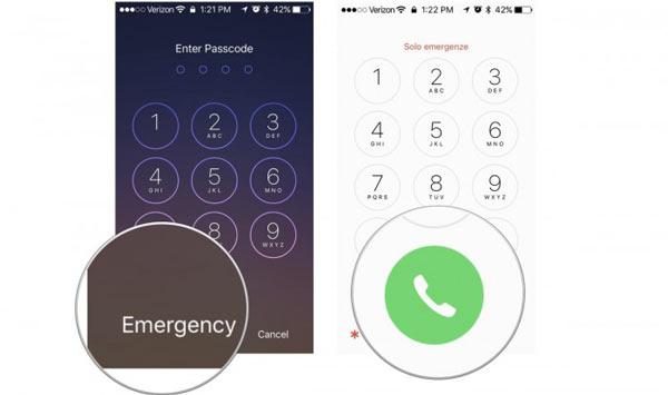 Kích hoạt iPhone bằng cuộc gọi khẩn cấp