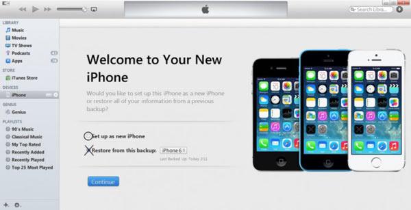 Thiết lập như iPhone mới