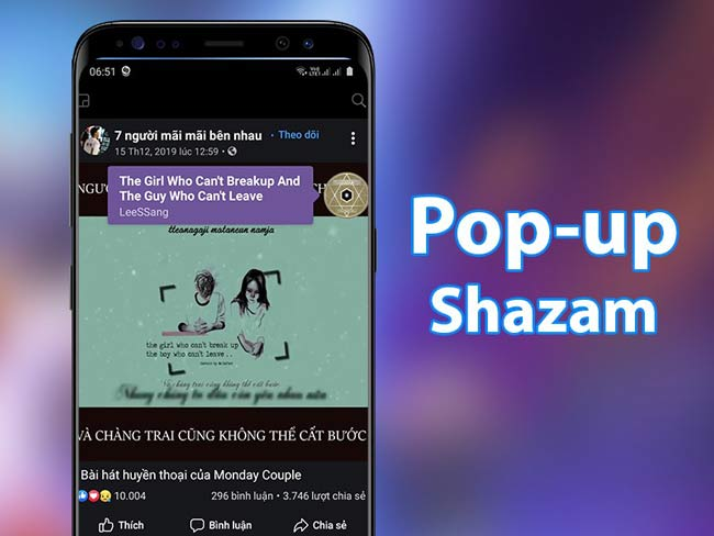 Pop-up Shazam