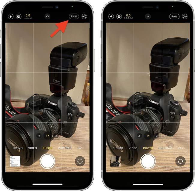 Cách chụp ảnh với Apple ProRAW