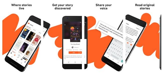 App đọc sách trên iPhone Wattpad