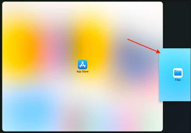 Kéo ứng dụng sang cạnh phải màn hình