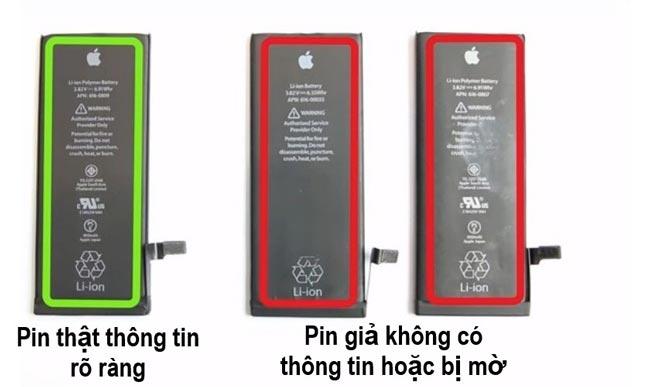 Phân biệt pin iPhone 7 Plus chính hãng