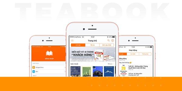 Phần mềm đọc sách trên điện thoại Teabook