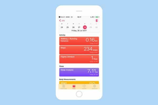 Tính năng đếm bước chân trên iPhone