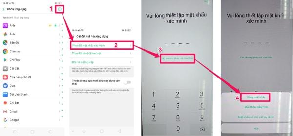 Cách khóa ứng dụng trên điện thoại OPPO