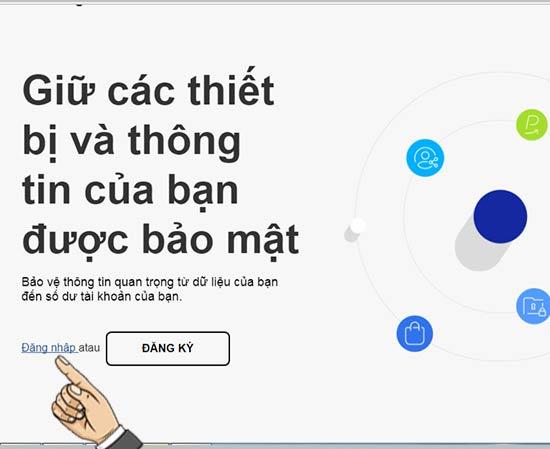 Đăng nhập vào trang web Samsung Account