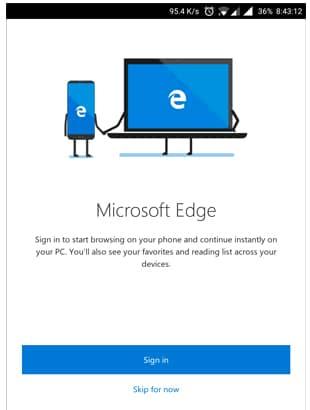 Cài đặt trình duyệt Microsoft Edge trên điện thoại Samsung