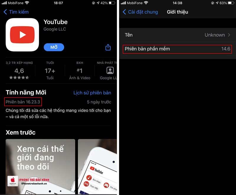 Cập nhật phiên bản mới nhất cho Youtube