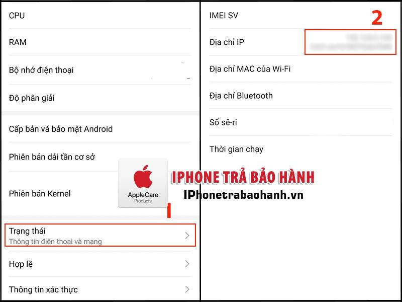 Xem địa chỉ IP trên điện thoại Android