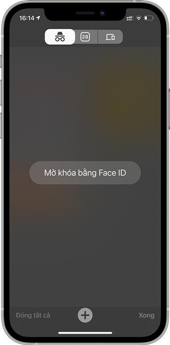 yêu cầu bạn xác thực bằng Face ID